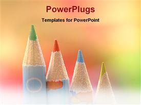 PowerPoint template displaying color pencils for art work