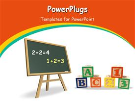 PowerPoint template displaying education_0312