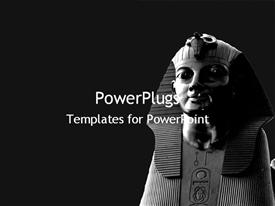 PowerPoint template displaying egyptian statues in the background.