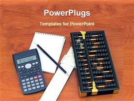 Equipments of calculation template for powerpoint