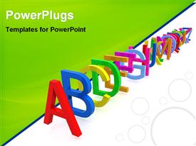 Illustrative image of alphabets powerpoint design layout