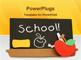 PowerPoint template displaying school Black board in the background.