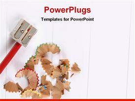 Sharpener with a pencil powerpoint design layout