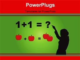 PowerPoint template displaying teaching math - 2 of 3