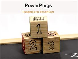 PowerPoint template displaying a collection of boxes with counting on them