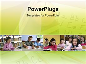 View of a Classroom powerpoint design layout