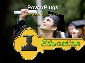 PowerPoint template displaying education key to life