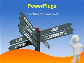 PowerPoint template displaying election 2012 choice conceptual post