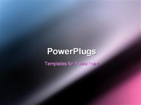 PowerPoint template displaying dark Blue motion blur smooth abstract background