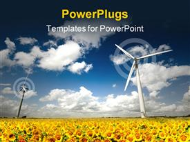 PowerPoint template displaying wind Turbine farm within the UK. See my gallery for more