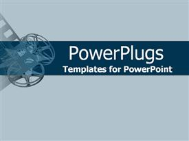 PowerPoint template displaying movie collage of projector reels and film