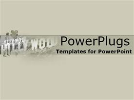 PowerPoint template displaying sandstone movie collage with Hollywood