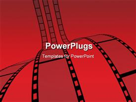 PowerPoint template displaying film Strip. white background. Digitally Generated