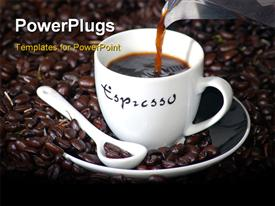 Cup of coffee powerpoint design layout