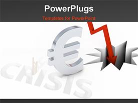 PowerPoint template displaying economic crisis in the background.