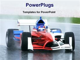 PowerPoint template displaying sport car in the background.