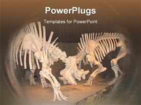 PowerPoint template displaying prehistoric Dinosaur