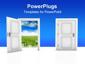 Two doors template for powerpoint