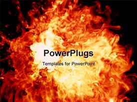PowerPoint template displaying explosion