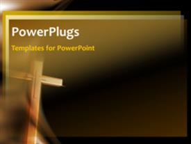 PowerPoint template displaying animated crucifix in the background.