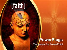 Psychology model highlighting the faith area of the brain powerpoint theme