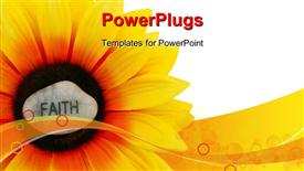 PowerPoint template displaying sunflowers - even artificial ones - shine brightly. Faith shines brightly on this sunflower