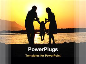 Image of 3 happy family members playing powerpoint theme