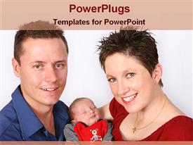 Family enjoying holiday powerpoint template