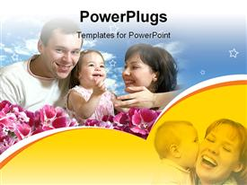 PowerPoint template displaying family of three