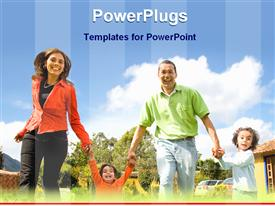 Happy family powerpoint design layout