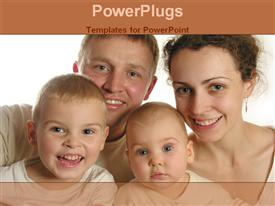 PowerPoint template displaying parents with children