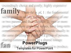 Family holding hands powerpoint template
