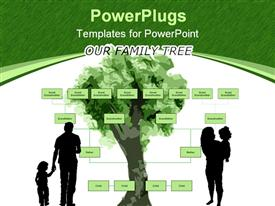 Blank family tree powerpoint template