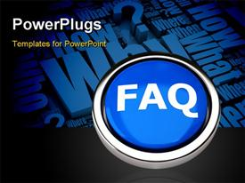 FAQ button powerpoint template
