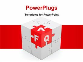 Answers to the frequently asked questions powerpoint design layout