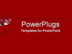 PowerPoint template displaying a rich red background with a patch of a mirror surface