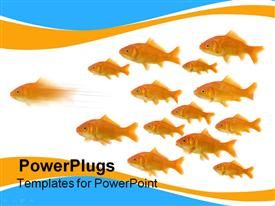 Be the first : on goldfish taking the lead of the group powerpoint design layout