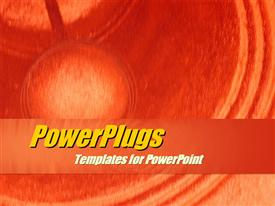 PowerPoint template displaying a fuzzy red colored background with some curved lines