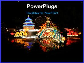 PowerPoint template displaying chinese festival on the waterfront in Toronto