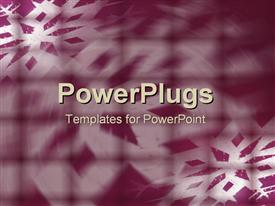 PowerPoint template displaying a number of patterns with purple background