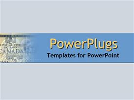 PowerPoint template displaying a plain off white colored background surface tile with a currency note