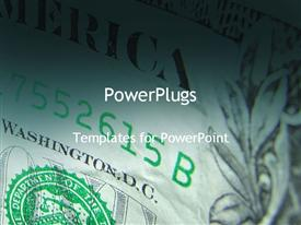 PowerPoint template displaying abstract depiction of currency in the background.