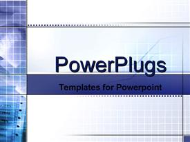 PowerPoint template displaying grids with stock