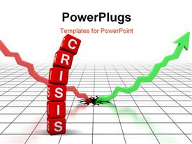 Crisis (from cubes buzzword 3D hires series) powerpoint template