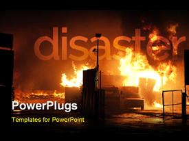 Natural disaster - fire powerpoint theme