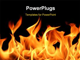 Fire and flames on a black background powerpoint theme