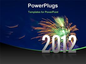 PowerPoint template displaying vibrant beautiful firework on the holiday day new 2012 year