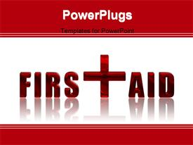 First Aid reflected 3D text powerpoint design layout