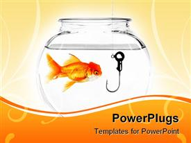 Hook in a Fish Bowl Concept of Being Taken Advantage Of powerpoint template