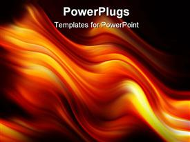 Digitally generated background orange and red fire flames over black powerpoint theme